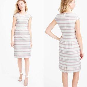 J Crew Double-Stripe Cap-Sleeve Dress Size 0